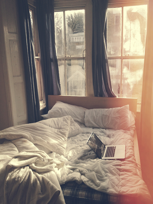 autumn bed bedroom comfy hipster home laptop perfect day room