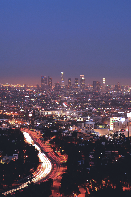 city, city lights, long exposure, night, photography, i love la♥