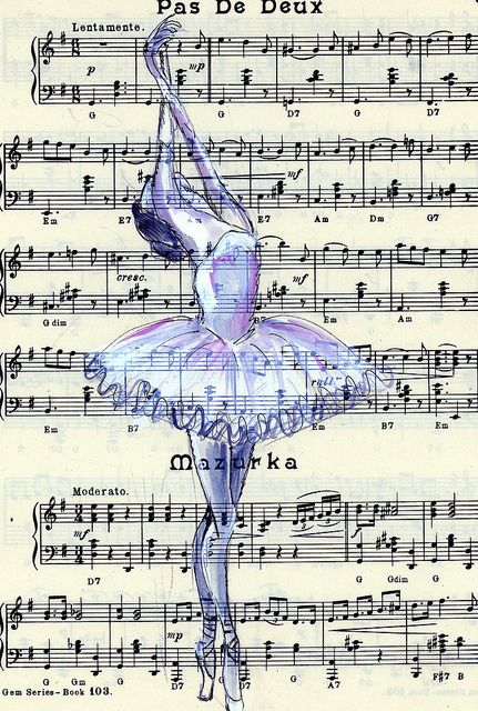 amazing, beautiful, song, famous, draw, life, music, Dream, ballerina, piano, sheet, classical music, ballet, pretty