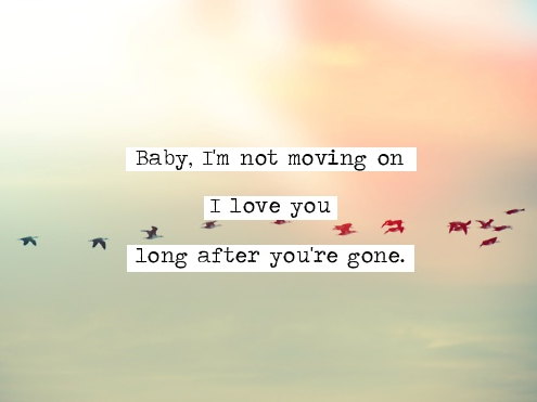 birds, love u, move on and quote