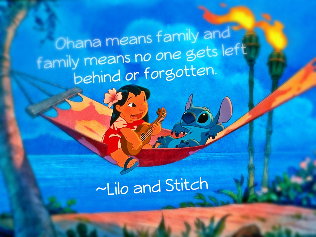 ohana means family lilo and stitch quotes quotesgram