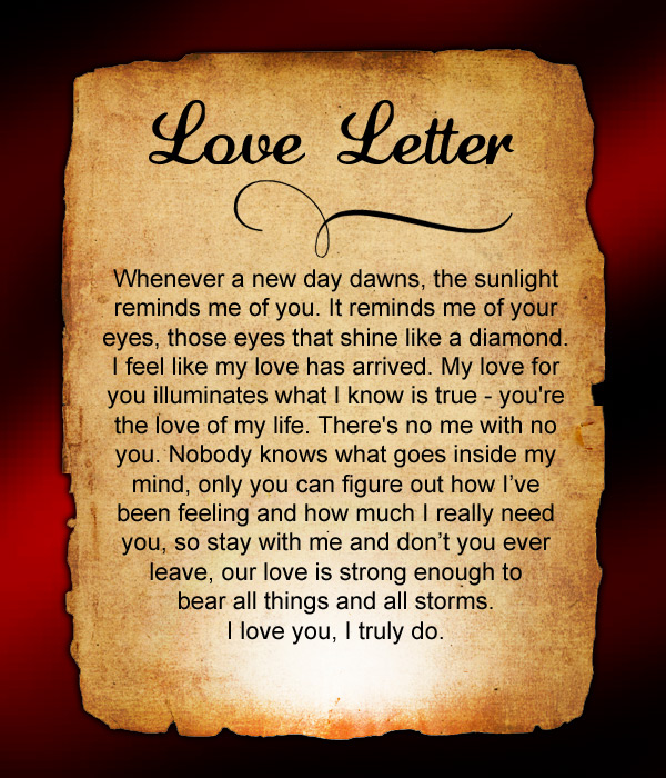 Do you miss him a lot? Send this love letter to him to