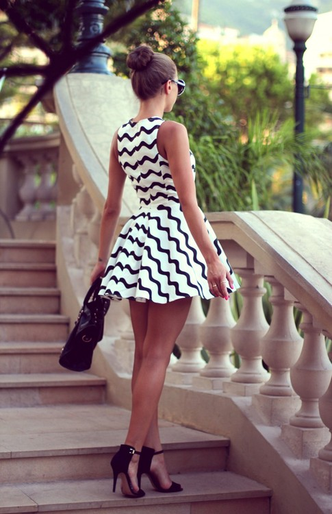 fashion in my soul ☮ | via Tumblr - image #1082406 by ... Black And White Summer Outfits Tumblr