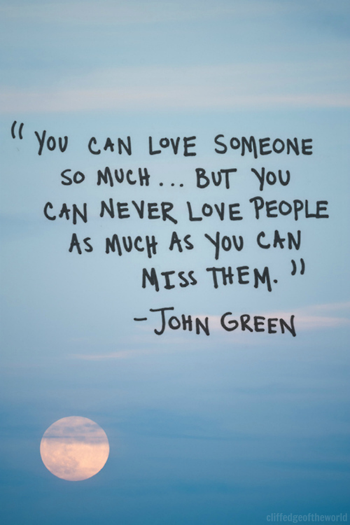 books, inspiration, inspired, john green, love, miss, quote, read, reading, them, writer, writing, you