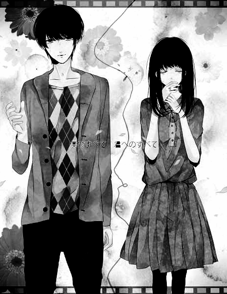 Cute Anime Couples Black And White | Download Foto, Gambar, Wallpaper ...