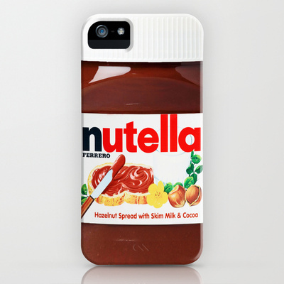 nutella, iphone case, iphone, cool, swag, food