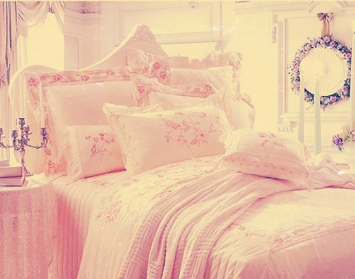 bed, bedroom, comfy and cute