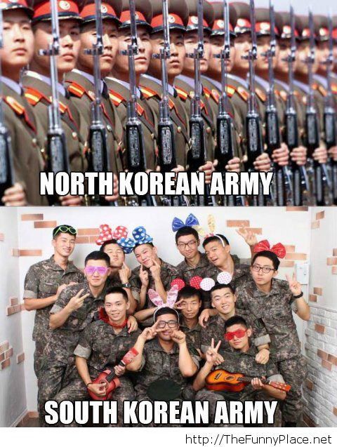 north vs south korean army funny pictures image by
