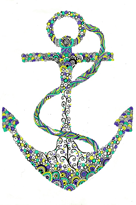 floral anchor wallpaper 2 image 1104520 by nastty on