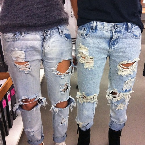 Boyfriend jeans | via Tumblr - image #1105472 by ...