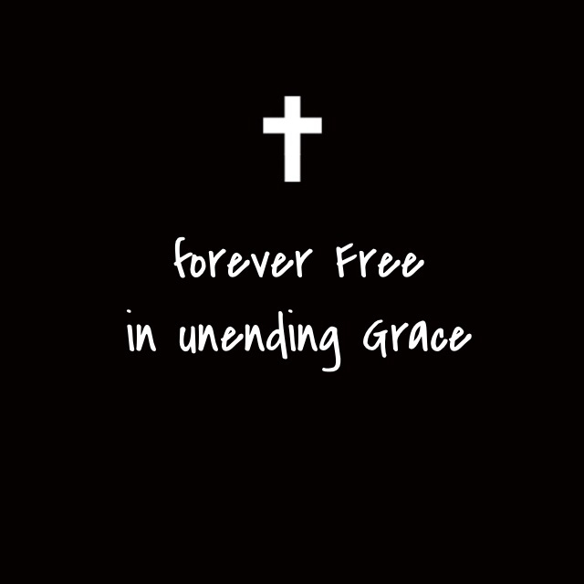 Alive amazing grace black and white christian f forever free god