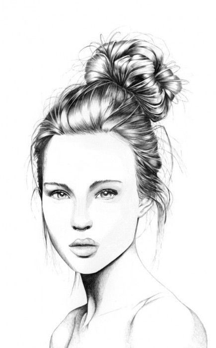 Line Drawing Hair : Untitled image by nastty on favim