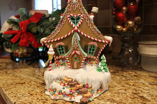 candy cane, candy house, christmas and delicious