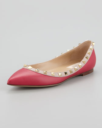 ballerina, flat, pink and shoes