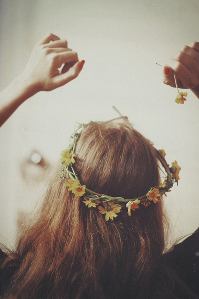 brown, cute, daisy and flower crown