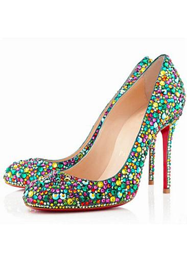 Suede Party/Evening Shoes,Stiletto Heel Party/Evening Shoes,Closed Toe Party/Evening Shoes,Rhinestones Party/Evening Shoes