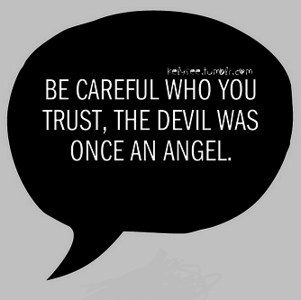 angel, devil, friends and quotes
