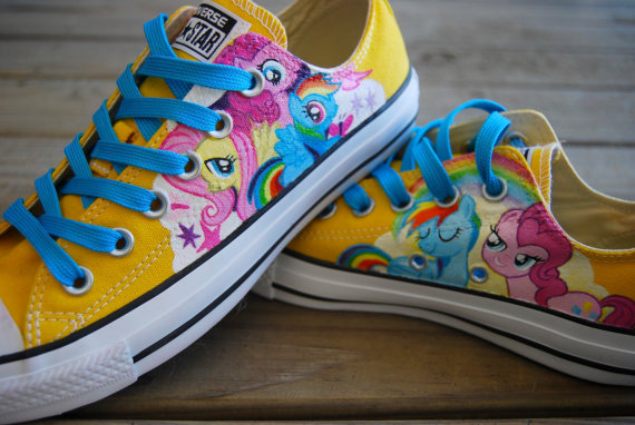 Little Pony Painted Shoes,Low-top