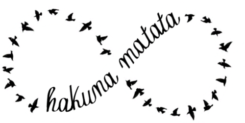 birds, hakuna matata, infinitive, love, text