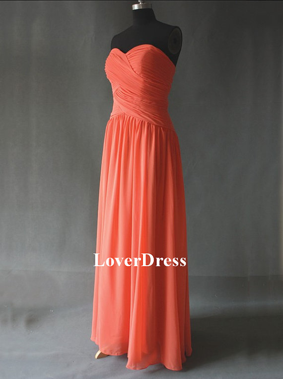 Coral Colored Bridesmaid Dresses Coral Bridesmaid By