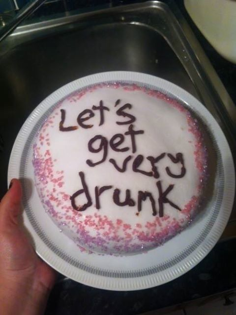birthday, cake, drunk, happy, pink