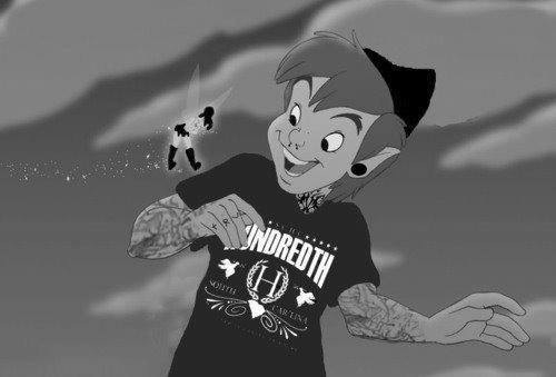 blackandwhite, disney, gothique, grunge, love, punk, tatoo