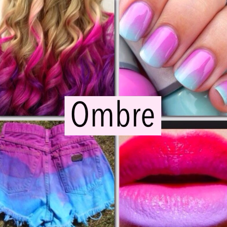 Ombre Nails Pink And Blue Blue Lips Nails Ombre Pink