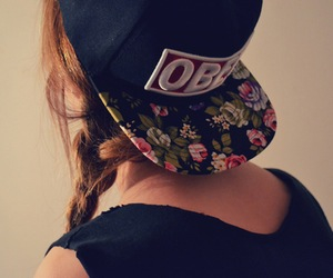 fashion, obay, hipster, girl, vintage, cap, fashionista, swag, flower, street style, obay cap, style, gorra