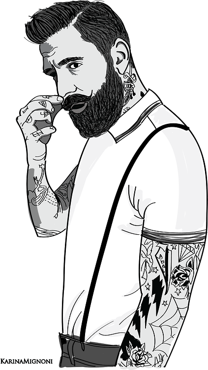 Ricki Hall Illustration By Karinamignoni Via Tumblr