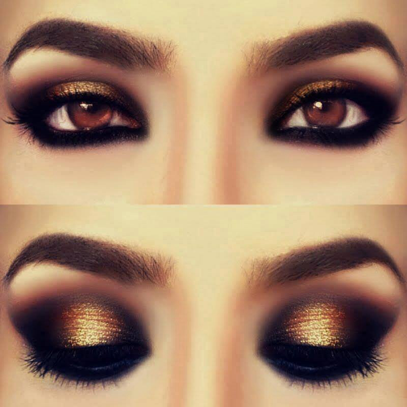 Gold brown eye
