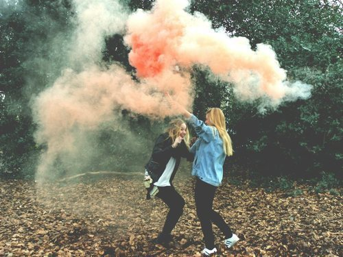 friends, forest, smoke, fun, tumblr girls