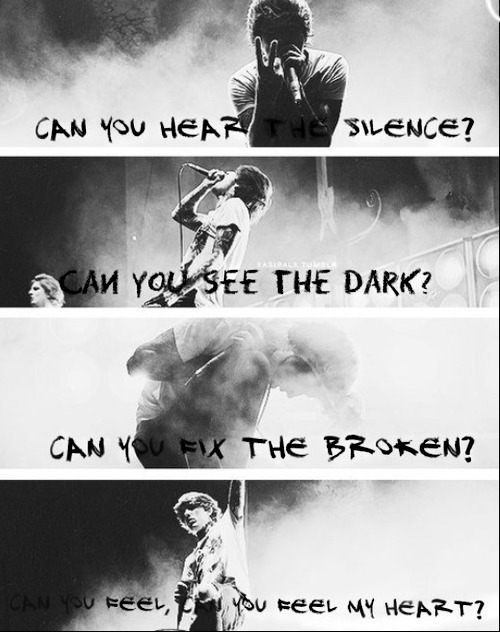 bmth, bring me the horizon, can you feel my heart and can you feel my heart?