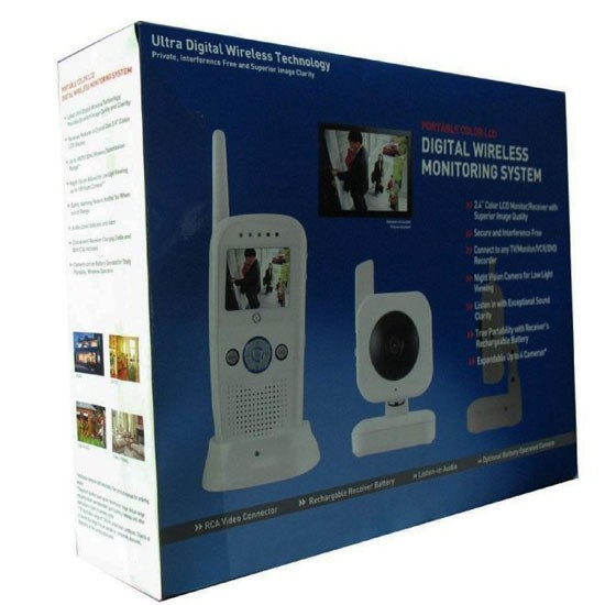 digital interference free day night audio video wireless baby monitor. Black Bedroom Furniture Sets. Home Design Ideas
