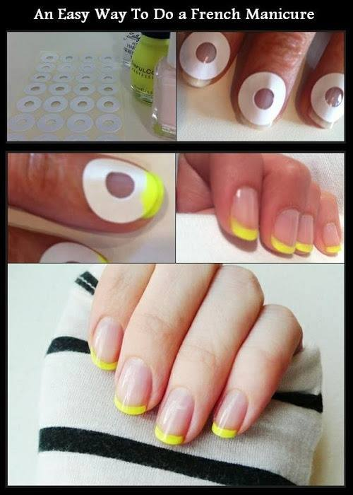 How to give myself a french manicure