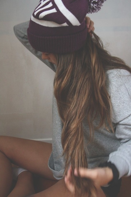 Hairstyles For Long Hair With Hats : grunge, hair, hairstyle, hairstyles, hipster, indie, long hair, ombre ...