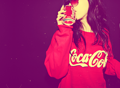 girl, sweet, coca cola, red, good, funny, swag