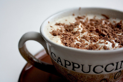 cappuccino, chocolate, coffee and drink