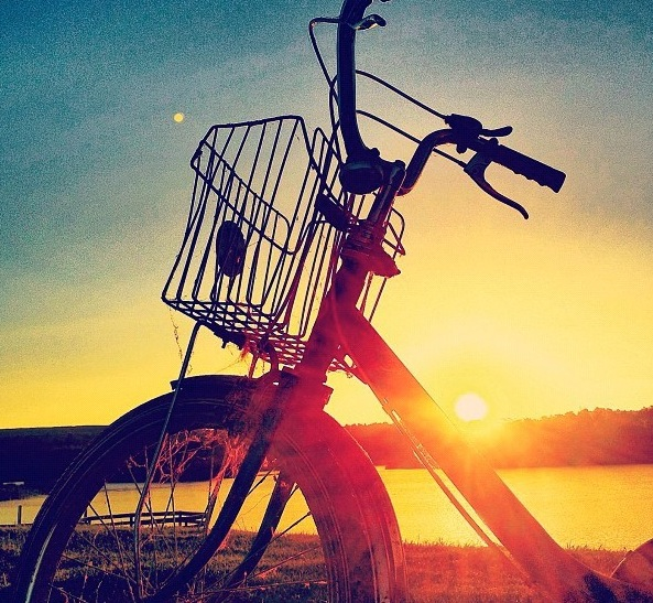beautiful, bike, bycicle, dreaming, dreams, emotion, fall, feelings, love, moment, shadow, spring, summer, sunset