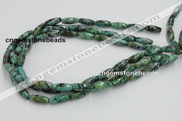 Loose African turquoise gemstone beads, Faceted African turquoise gemstone beads and Cheap African turquoise gemstone beads