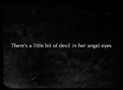 angel, angel eyes, devil and quote