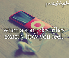 describes, feel, ipod, just girly things, quote, song, text