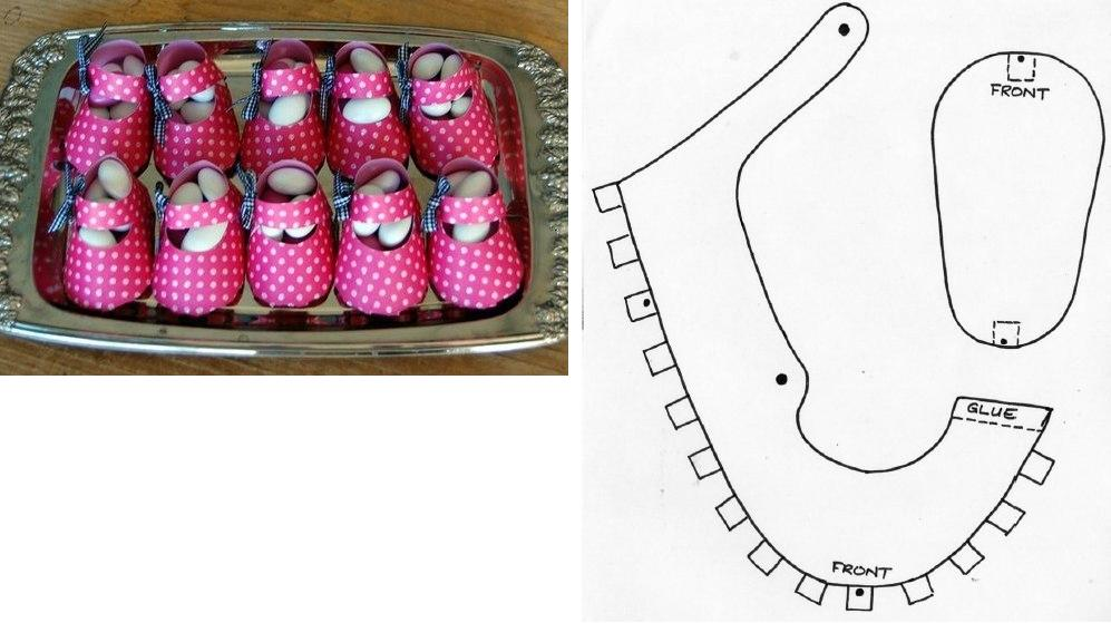 diy, instructions, box template, baby shoes box