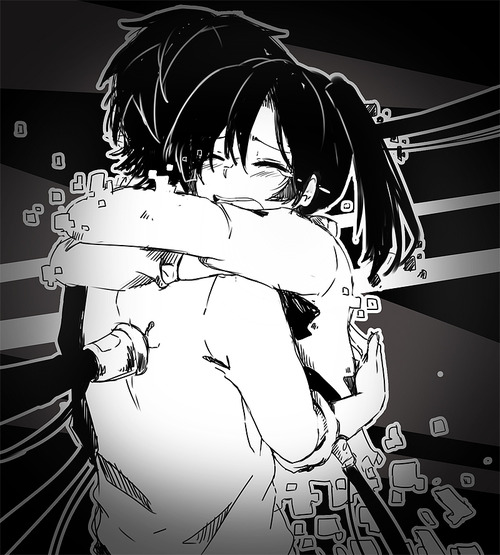 anime, anime couple, cute and kagerou project