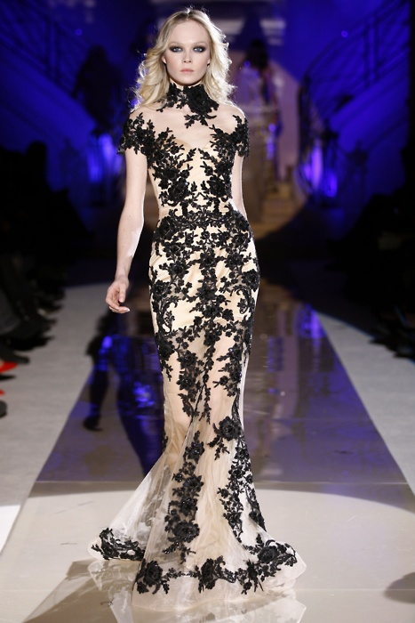 fashion, long, runaway, sexy, High-Neck, celebritydress, zuhairmurad, blacklace