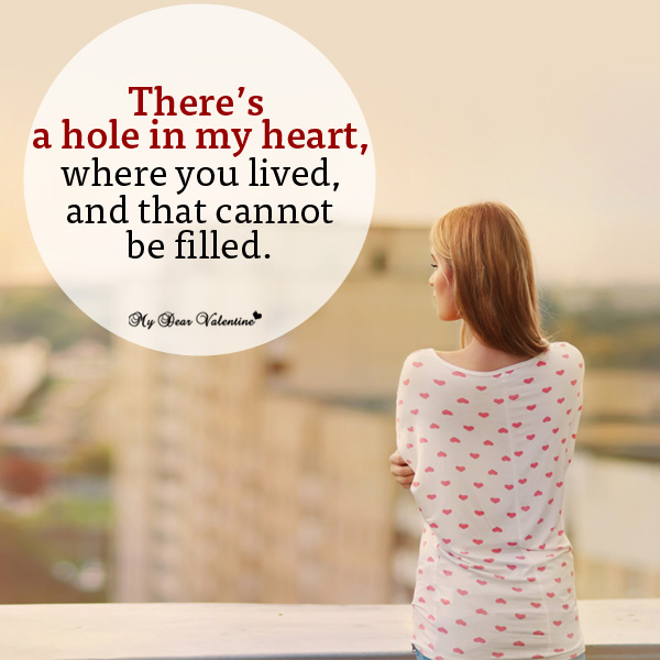 there 39 s a hole in my heart missing image 1273426 by