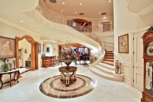 Luxury Mansion Foyer : Tumblr image by purplecallalily on favim