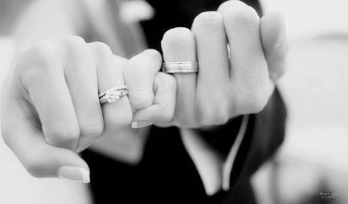always and forever, black and white, couple, engagement ring, hands, love, marriage, pinky promise, rings, true love, wedding, wedding rings