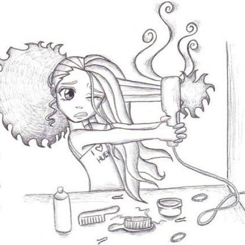 bobby pins, brush, comb and curly hair