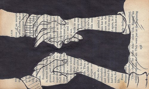 girl and boy, love, hand, newspaper, married
