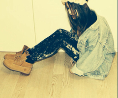 girl, fashion, timberlands, swag, style